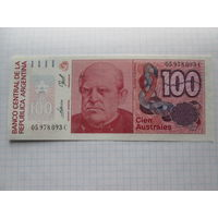АРГЕНТИНА  100  АУСТРАЛЕЙ  UNC