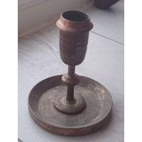 Находка Старинный бронзовый подсвечник в отличном состоянии не с рубля