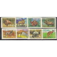 Вьетнам Фауна 1981 год чистая полная беззубцовая серия из 8-ми марок