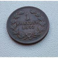 Баден 1 крейцер, 1852 7-7-17