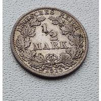 "Германия 1/2 марки, 1915 ""A"" - Берлин 7-10-30"