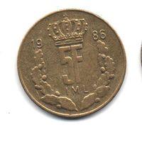 5 франков 1986. Люксембург