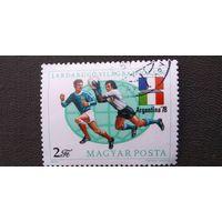 Марка Венгрия 1978 год. Спорт Футбол