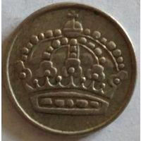 Швеция 25 эре 1954 серебро