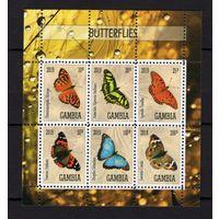 MNH - Бабочки - фауна - природа - зубчатый - 2019 - Гамбия