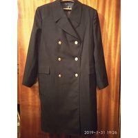 Шинель (пальто) ВМФ Двубортная чёрная
