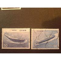 Япония 1976 корабли полная серия