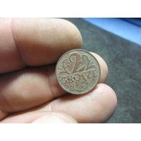 2 гроша 1923 г. Речь Посполита отличная