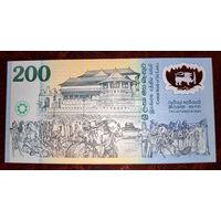 """Шри Ланка 200 рупий 1998 год UNC  """"Юбилейная"""""""