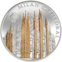 """Палау 5 долларов 2015г. """"Мир Чудес: Миланский собор"""". Монета в капсуле; сертификат. СЕРЕБРО 20гр."""