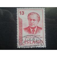 Исландия 1973  2-й президент