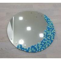 Декорированное зеркало ручной работы, диаметр 50 см., ИДЕАЛЬНЫЙ ПОДАРОК!!! новое