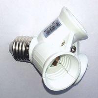 Заменитель люстры: переходник с цоколя Е27 на 3Е27, Распродажа.