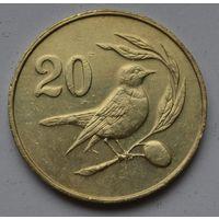 Кипр 20 центов, 1983 г.