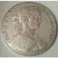 ГЕРМАНИЯ ФРАНКФУРТ 1 талер (союзный) 1860 год  (серебро)