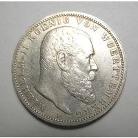 3 марки Вюртемберг 1909