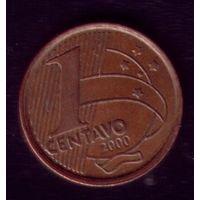 1 сентаво 2000 год Бразилия