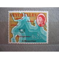 Британские  Сейшеллы.  концовка,  1962г.  к.ц.- 6 евро.
