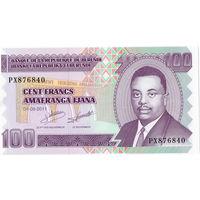 Бурунди, 100 франков, 2011 г., UNC