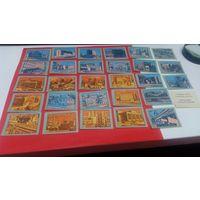 Спичечные этикетки набор 1987 год серия из 18 этик.  Череповец - город-труженик  (цена за все)