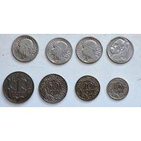 Лот монет серебра и никеля довоенной Польши