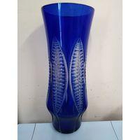 Ваза синее стекло, 29 см
