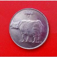 36-03 Индия, 25 пайс 1998 г. Единственное предложение монеты данного года на АУ