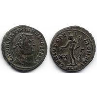 Фоллис 300-301, Римская империя, Галерий (Galerius Maximian), цезарь. ALE - Александрия. Красивое коллекционное состояние!