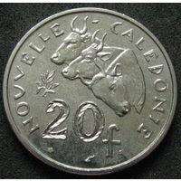 1к Новая Каледония 20 франков 1970 В ХОЛДЕРЕ распродажа коллекции