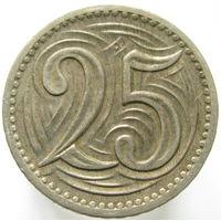Чехословакия 25 геллеров 1933 (83)