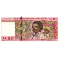Мадагаскар 25000 франков 1994 UNC