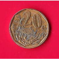 49-33 ЮАР, 20 центов 2010 г.