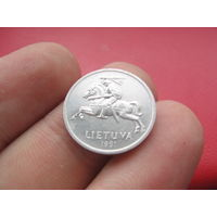Литва 1 цент 1991 года