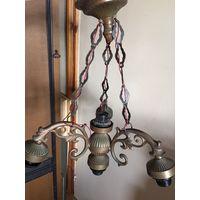 Люстра светильник Чехия стиль Ивица Ромашка на 5 ламп