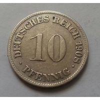 10 пфеннигов, Германия 1908 D