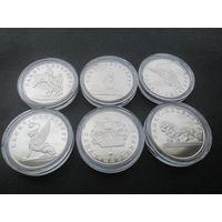 Набор 6 монет 300-летие основания Санкт Петербурга