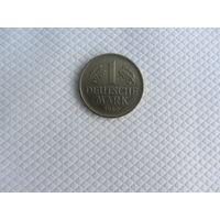 1 марка 1980D Германия КМ# 110 Медно-никелевый сплав