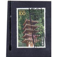 Япония. Mi:JP 1810. Пятиэтажная пагода, храм Мур, 9 век, Уда, префектура Нара. 1988.