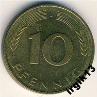 10 пфенингов 1981 г. ФРГ