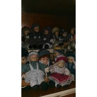 Куклы фарфоровые, винтажные. Клоун фарфоровый.