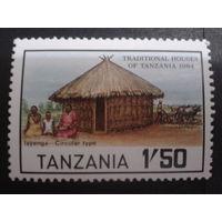 Танзания 1984 традиционная хижина