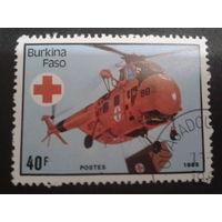Буркина-Фасо 1985 вертолет, Кр. крест
