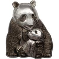 "RARE Острова Кука 20 долларов 2017г. ""Счастливая панда"". Монета в подарочном футляре; сертификат; коробка. СЕРЕБРО 88 гр."