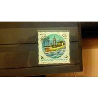 Корабли, транспорт, флот, парусники, марки, Египет, 1988