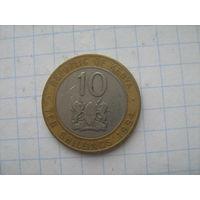Кения 10 шиллингов 1994г.
