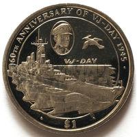Британские Виргинские Острова 1 доллар 2005 года. День победы над Японией.