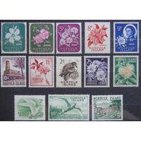 Британские колонии. Остров Норфолк. Полная серия 1960, Лот 12
