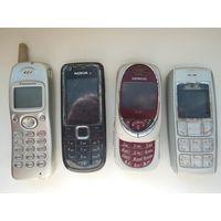 Мобильные телефоны 4шт. одним лотом.