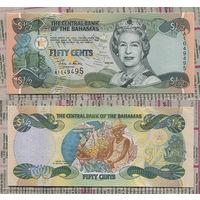 Распродажа коллекции. Багамские острова.1/2 доллара (50 центов) 2001 года (P-68 - 2001-2002 Series (Act 2000))