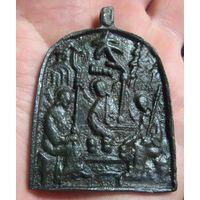 Иконка. Троица Ветхозаветная 16 век.  РЕДКОСТЬ